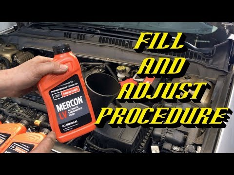 2013-2019 Ford Explorer Escape Fusion 6F35 Six Speed Transmission Fluid Change Procedure
