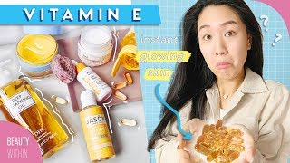 How to Use Vitamin E For Scars, Acne Marks & Clear Skin: For ALL Skin Types + Fave Products ✨