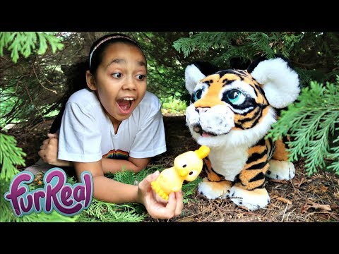 Thumbnail: FurReal Friends Tiger In Our Garden | Toys AndMe Pretend Play