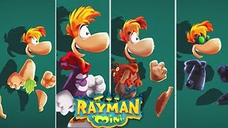 Rayman Mini - All Worlds + Bonus Levels - Apple Arcade - Walkthrough Gameplay
