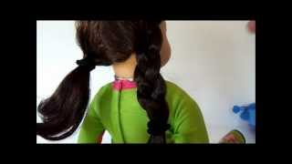 American Girl Hairstyles - Jess's Two Side Braids