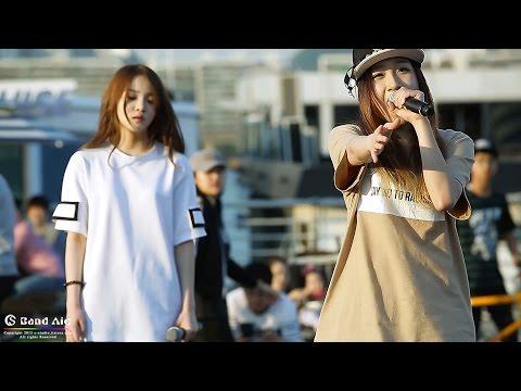 [150524] THE ARK(디아크) 여의도 한강공원 버스킹 'Love The Way Your Lie' 유나킴&정유진 직캠 By 반창꼬