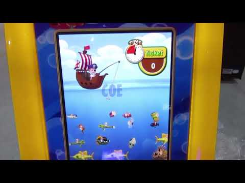 Pirate's Hook Video Fish Arcade Machine 1 Player