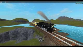 ROBLOX Cringefield Narrow Gauge Railroad Riding on a Steam Locomotive 102 Passenger Train