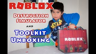 Roblox Destruction Simulator and Toolkit (Collector's Case) Unboxing