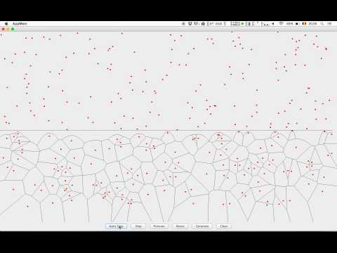 Voronoi Diagram - Fortune's algorithm animation