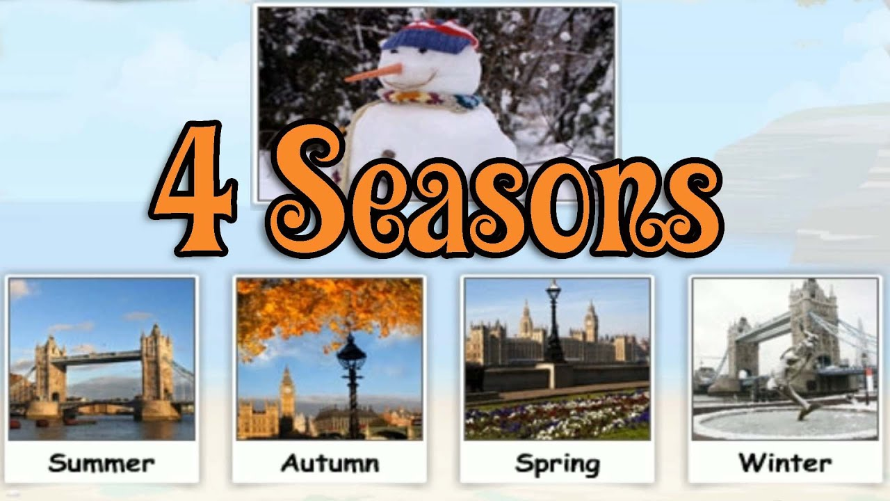 Four Seasons, learning Different Seasons, Funny Game for ...