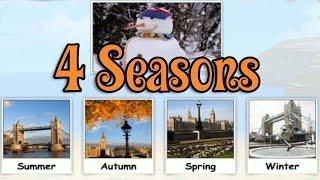 Four Seasons, learning Different Seasons, Funny Game for Kids, Preschool & Kindergarten Activities