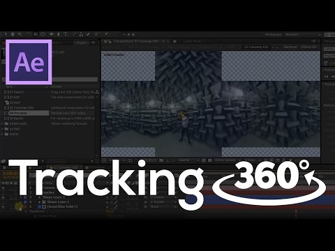 How to add Motion Graphics in 360 degree video. Tracking VR. After Effect + project template