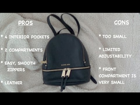 3fe81de942 Review  Rhea Extra Small Michael Kors Backpack - YouTube