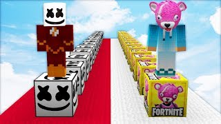 ¡LUCKY BLOCKS MARSHMELLO 🎵 VS LUCKY BLOCKS FORTNITE! 🎮 | MINECRAFT MODS