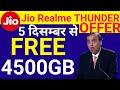 Jio New Offer : Jio Realme Thunder Offer : Cashback ₹5750 & FREE 4.5TB Data | Jio Realme U1 Offer