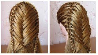 Coiffure pour tous les jours cheveux mi long/long 💗 Coiffure avec tresse 💗 facile à faire thumbnail