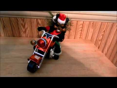Dan Dee Christmas Animated Musical Motorcycle Biker Reindeer