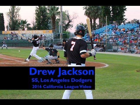 Drew Jackson, SS, Los Angeles Dodgers — 2016 Cal League Video