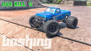 4s LiPo Traxxas Stampede 4x4 Messing Around at the Skate Park | Running Footage | Overkill RC