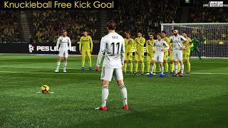 PES 2019 | Villarreal vs Real Madrid | Knuckleball Free Kick Goal BALE | Gameplay PC