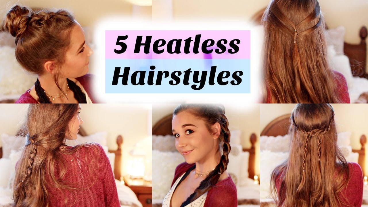 Heatless Hair Styles: 5 Back To School Heatless Hairstyles