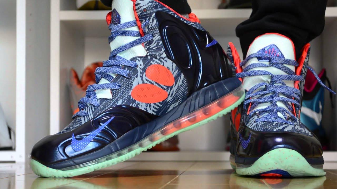 On Feet  Nike Hyperposite  Glow in the Dark  (HD) IG  Sneakaninjaz ... 17c8bd56f