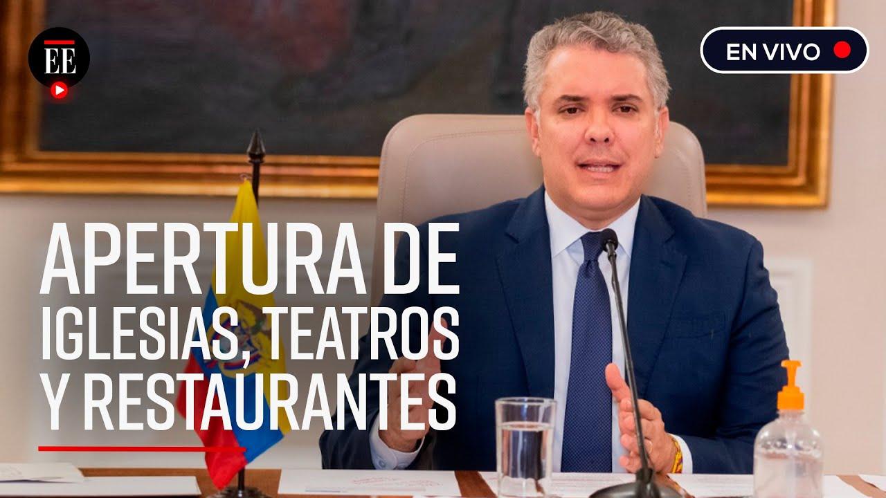"""Iván Duque: """"Municipios con baja afectación de COVID-19 podrán abrir restaurantes y gimnasios"""""""