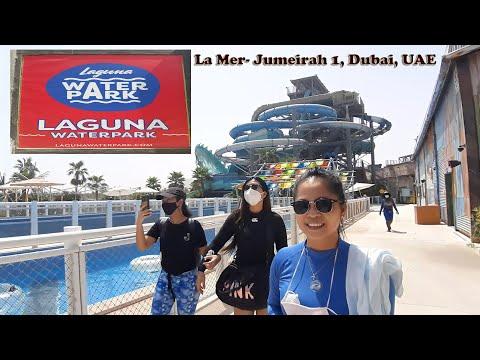 Adventure rides and slides in Laguna water park, Lamer, Dubai,