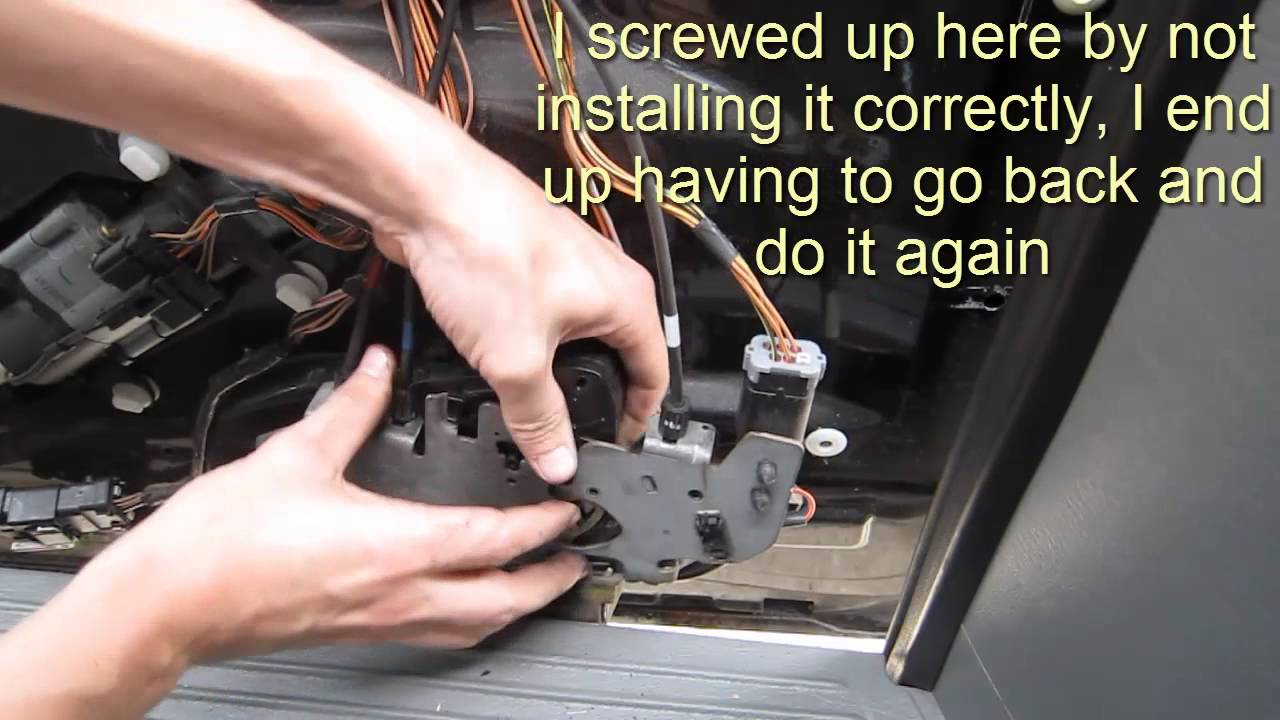 Sliding Door Lock Actuator Fix  Town & Country  Caravan  YouTube