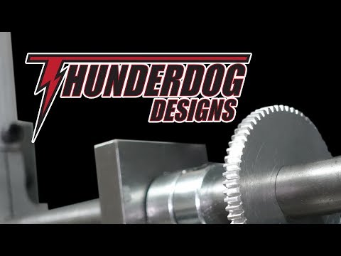 Making metal gears with a scrap made dividing head!