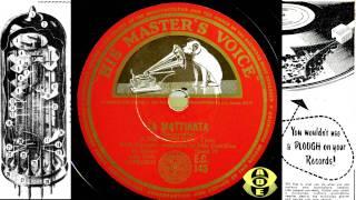 78RPM RESTORATION - Jussi Bjorling - La Mattinata (leoncavallo)  HMV OSB2402