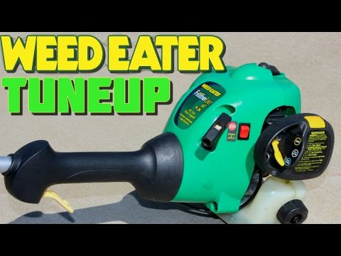 FULL TUNEUP WEEDEATER FEATHERLITE WEED GAS TRIMMER REPAIR AND RESTORE