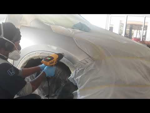 DYI: MOBILE TECH | AUTO PAINTING/ Spraying Water Base and Clear Coating |