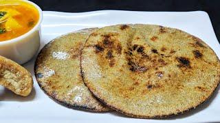 इस तरीक़े से बनाये बिना फटे फूली फूली बाजरे की रोटी   Bajre Ki Roti Recipe   Pearl Millet Chapati .