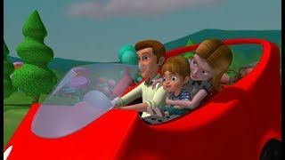 Bumping up and down in my little red wagon | songs for children |  english rhymes | chitti tv