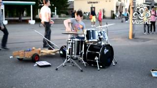 Kid drummer - Epic Street Drumming