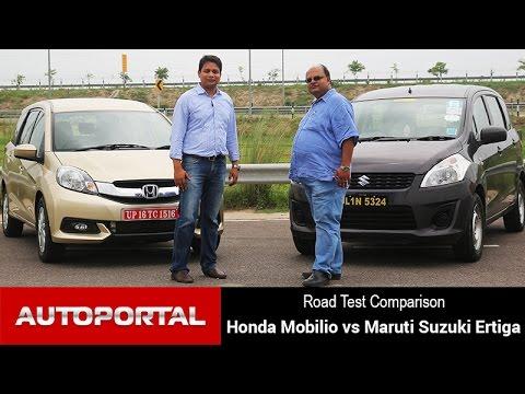 Honda Mobilio Vs Maruti Suzuki Ertiga Test Drive Comparison - Autoportal