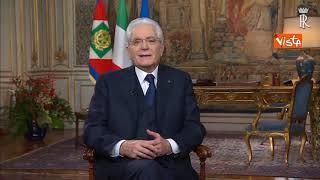 Il discorso di fine anno del Presidente Mattarella - video integrale