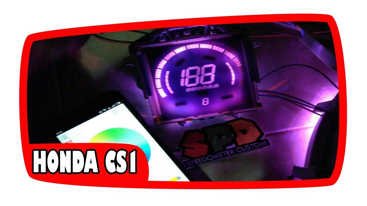 Modifikasi Speedometer Honda Cs1 One Dengan Aplikasi