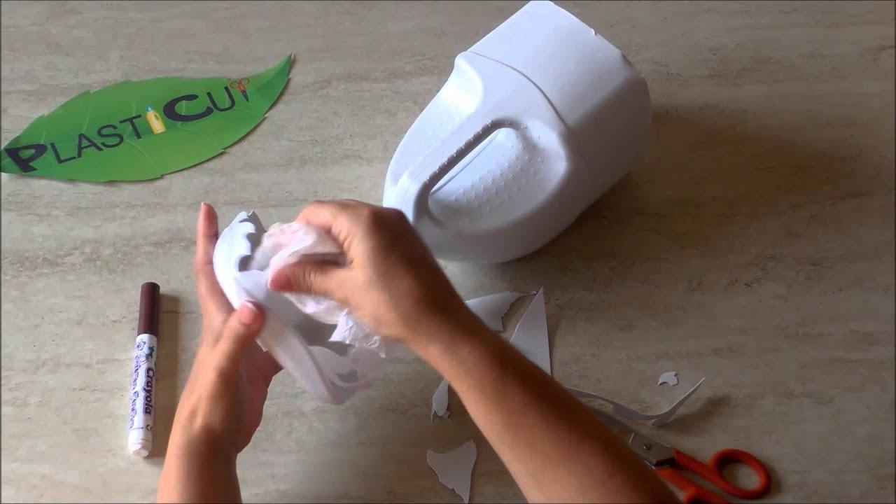 """Souvent Riciclo creativo plastica - Tecnica decorativa """" P - YouTube EZ09"""