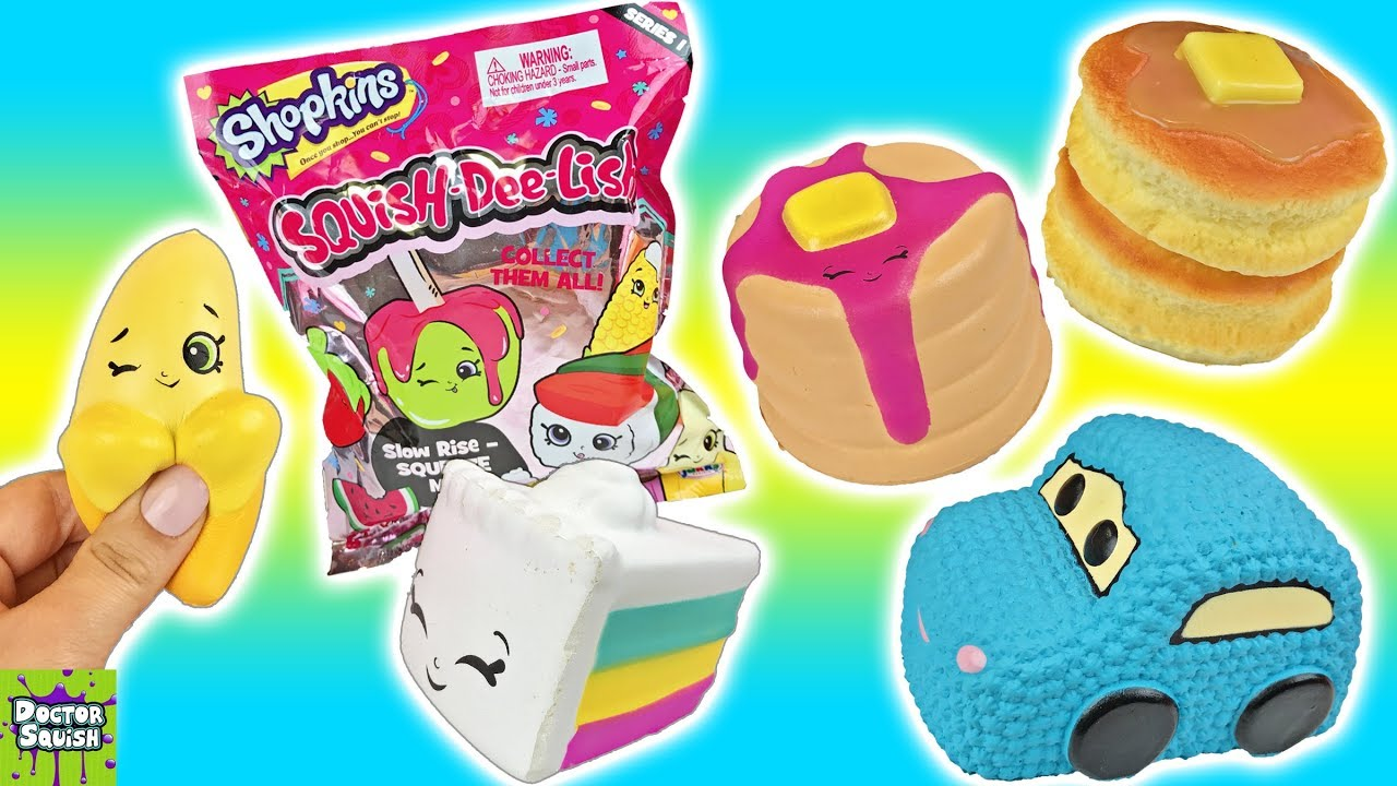 Squish Delish Characters : Shopkins Squish-Dee-Lish Blind Bags VS Kawaii Squishies! Doctor Squish - YouTube