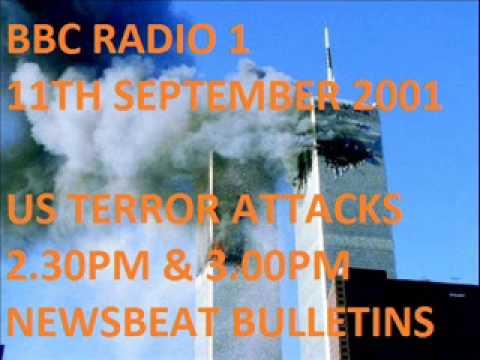 BBC Radio 1, Newsbeat 2.30pm & 3.00pm - Sept. 11th 2001