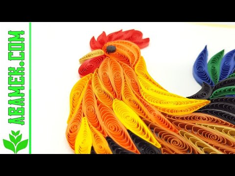 Abamek DIY How To Made Chicken Quilling Card KFC Texas Chicken