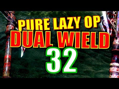 Skyrim Pure Lazy OP Dual Wield Walkthrough Part 32: The Smithing Bomb (Rocketing Up to Level 80) thumbnail