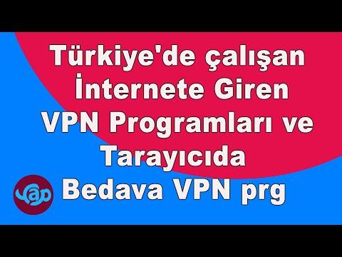 Türkiye'de çalışan internete giren vpn Programları ve Tarayıcıda Bedava VPN. Yasaklı sitelere giriş