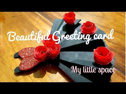 Beatiful greeting card diy|how to make handmade greeting card 2019| friendship card| My little space