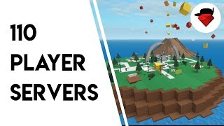Random Gameplay but with 110 Player Servers | Natural Disaster Survival [ROBLOX]