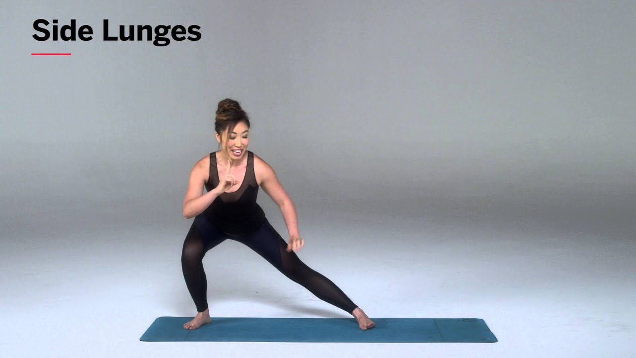 How To Do Side Lunges For Lean Legs Health Youtube