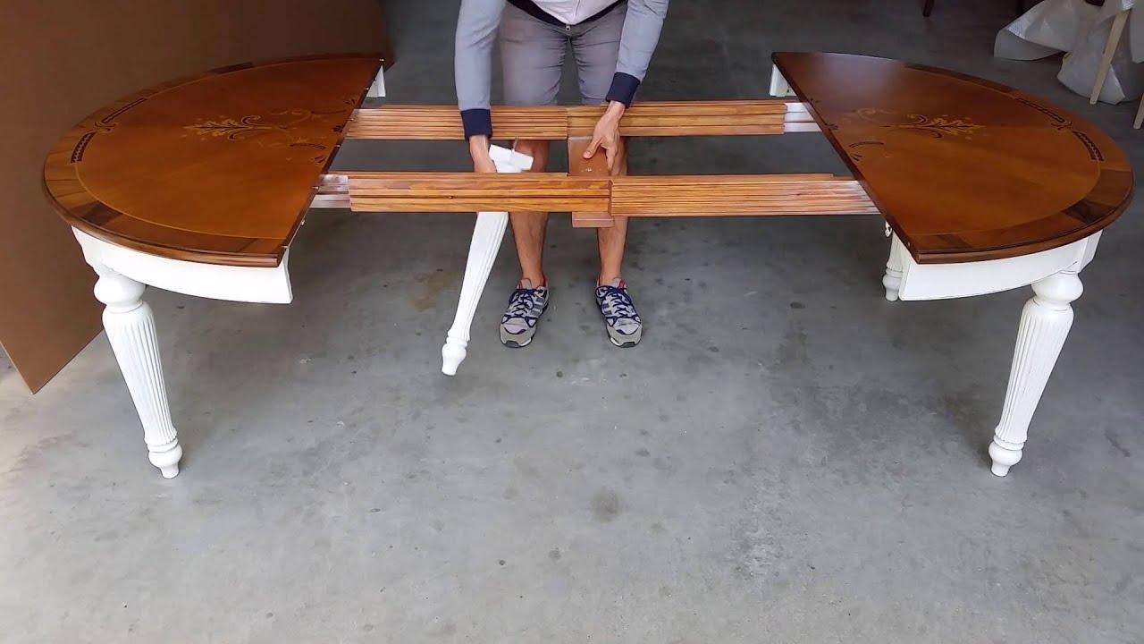 Tavolo rotondo allungabile diametro 140 - YouTube