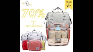 LeQueen best Diaper Bag backpack 2019 | 70% OFF ! + FREESHIPPING