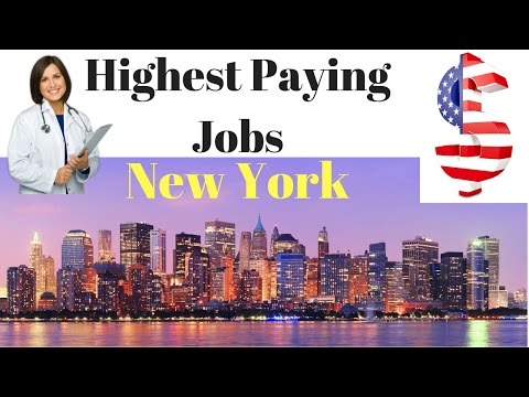 Top Highest Paying Jobs in New York City USA 2017