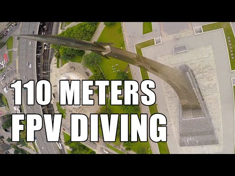 110 meters FPV DIVING at Museum of Astronautics in Moscow