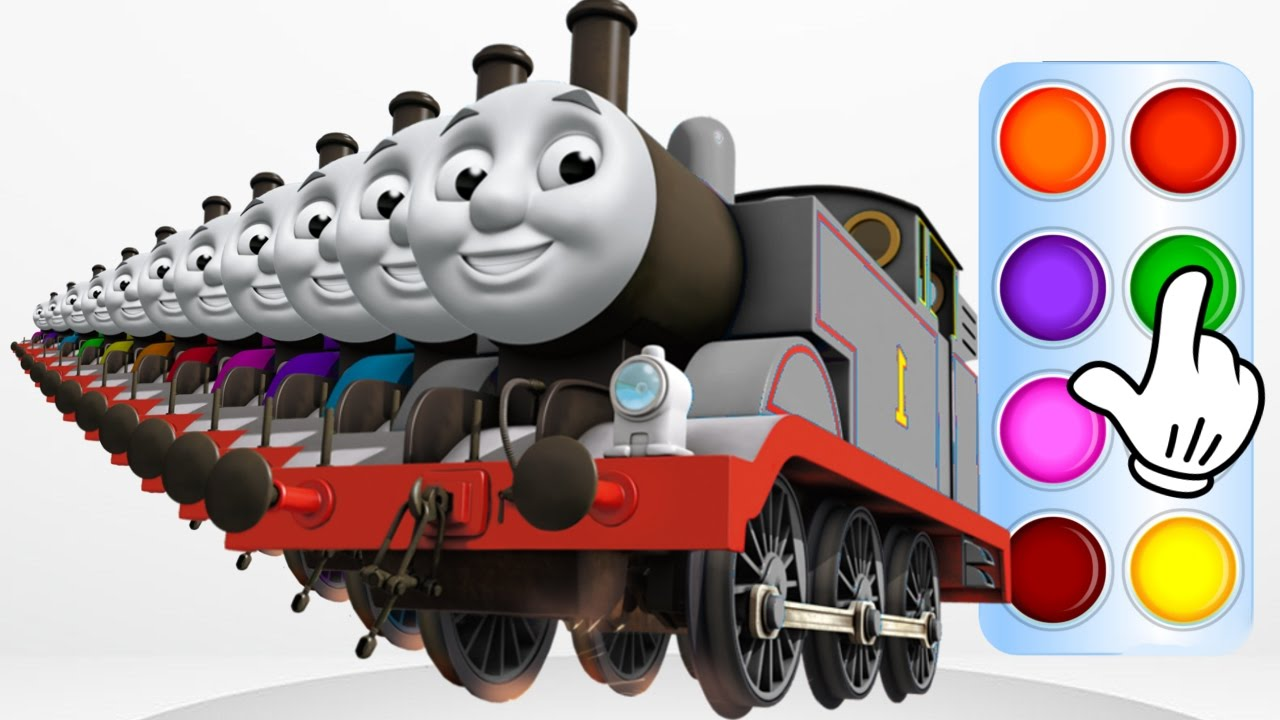 Learn Colors with Thomas and Friends - Learning Train Color for Baby ...